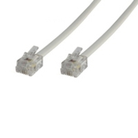 Microconnect RJ12/RJ12 5m 5m White telephony cable