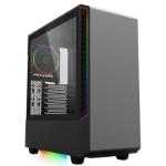 GAMEMAX Panda Full Tower 2 x USB 3.0 Tempered Glass Side Window Panel Black Case with Addressable RGB LED Li