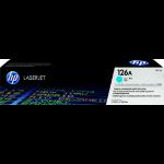 HP 126A Origineel Cyaan 1 stuk(s)