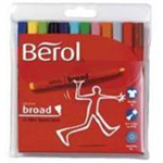 Berol Assorted Water-Based Colourfine Pens Wallet (12 Pack) S0376510