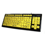 Accuratus KYB-MON2VIS-UCUH USB QWERTY English Black,Yellow keyboard