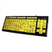 Accuratus KYB-MON2VIS-UCUH keyboard USB QWERTY English Black, Yellow