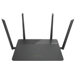 D-Link EXO AC1900 MU-MIMO Dual-band (2.4 GHz / 5 GHz) Gigabit Ethernet Black wireless router