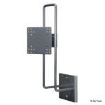 """R-Go Tools R-Go Up & Down Wall Mount, up to 27"""", Max weight 10kg, adjustable, silver"""
