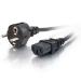 C2G Cable de alimentación europeo 16 AWG de 2 m (IEC320C13 a CEE7/7)