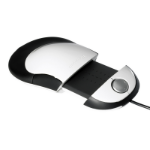 Humanscale Switch Mouse is a symmetrical ambidextrous mouse. that can be adjusted to different lengths to accom