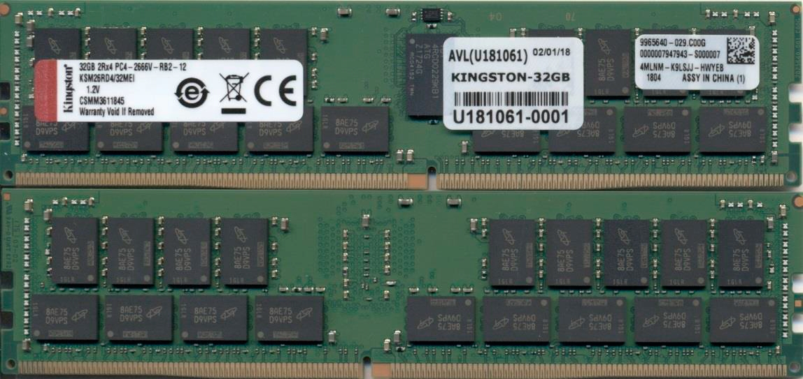 Kingston Technology KSM26RD4/32MEI módulo de memoria 32 GB 1 x 32 GB DDR4 2666 MHz ECC