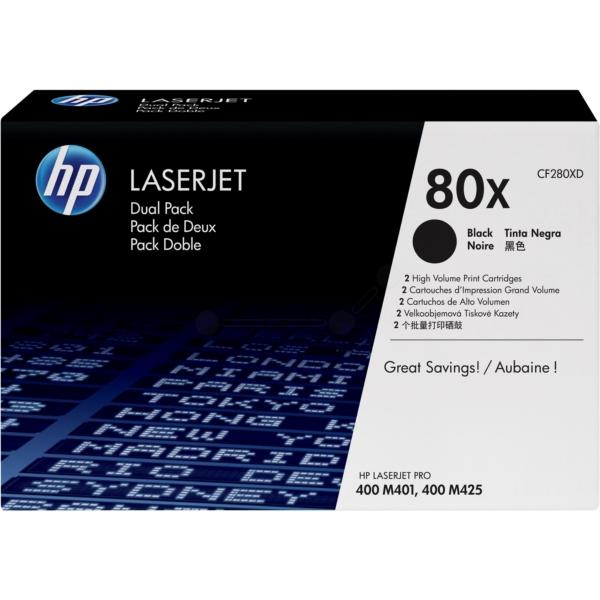 HP CF280XD (80X) Toner black, 6.9K pages, Pack qty 2