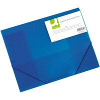 Q-Connect Elasticated Folder A4 Blue