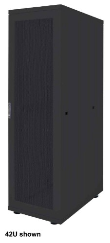 "Intellinet 19"" Basic Server Cabinet, 36U, 1766 (h) x 600 (w) x 1000 (d) mm, Max 600kg, Flatpack, Black"