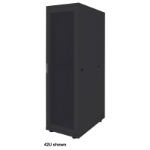 "Intellinet 19"" Basic Server Cabinet, 36U, 1766 (h) x 600 (w) x 1000 (d) mm, Max 600kg, Flatpack, Black"