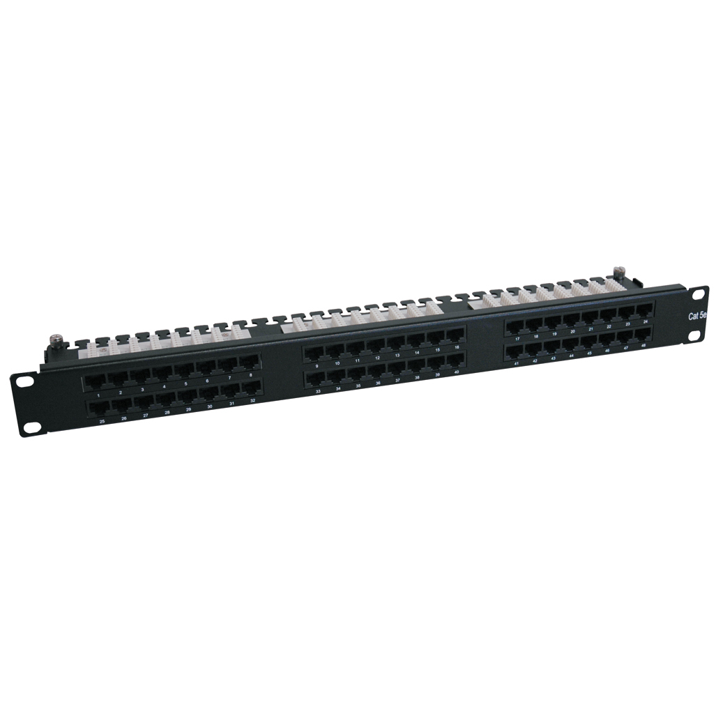 Tripp Lite 48-Port 1U Rack-Mount Cat6/Cat5 High Density 110 Patch Panel, 568B, RJ45 Ethernet