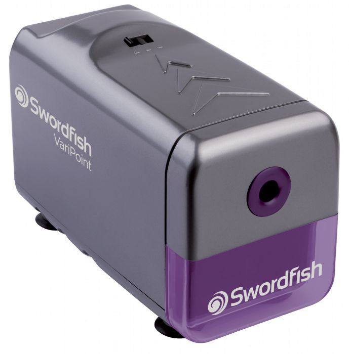 SWORDFISH VARIPOINT PENCIL SHARPENER ELECTRIC PENCIL SHARPENER GREY,PURPLE