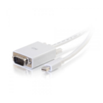 C2G 10ft Mini DisplayPort[TM] Male to VGA Male Active Adapter Cable - White