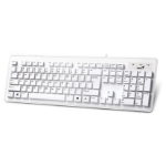 Genius Slimstar 130 keyboard USB QWERTY US International White