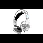 E-blue Cobra EHS902 Binaural Head-band White headset