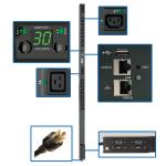 Tripp Lite PDUNVR30HVLX power distribution unit (PDU) 24 AC outlet(s) 0U Black