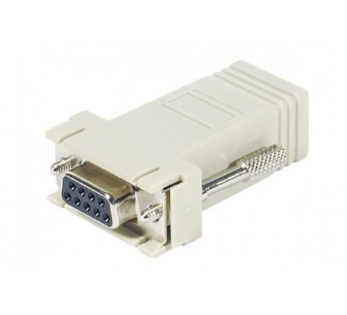 Hypertec 250410-HY cable gender changer DB-9 RJ-45 White