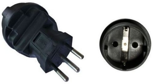 Microconnect PEAEUSWISS power plug adapter Type J (CH) Black