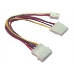 Microconnect Power 4pin - 3pin + 4pin power cable