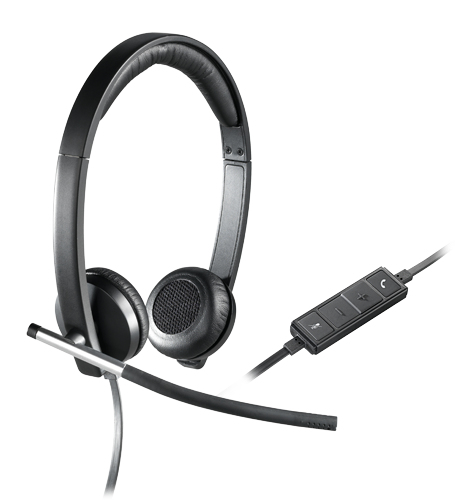 Logitech H650e Binaural Head-band Black,Silver headset 981-000519