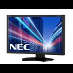 "NEC MultiSync PA242W 24"" 1920x1200 DVI HDMI DisplayPort LED Monitor Black"