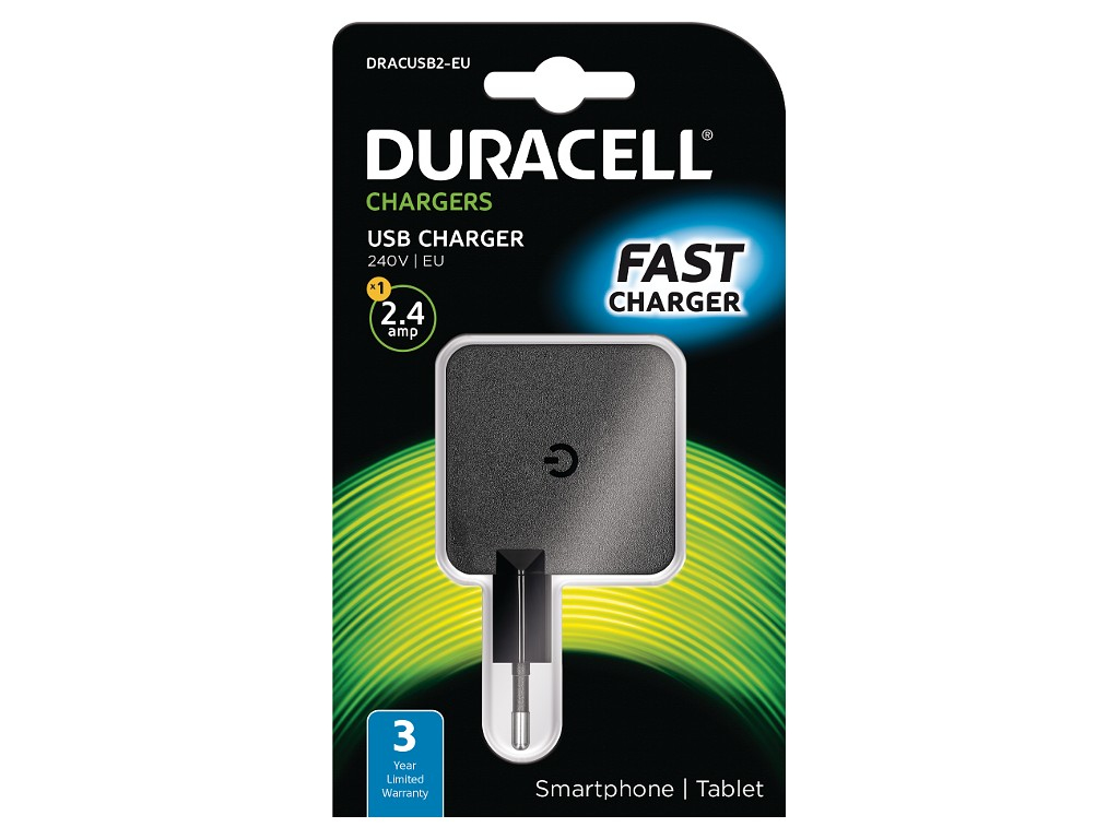 Duracell 2.4A USB Phone/Tablet Charger