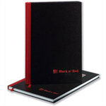 Black n' Red Book Casebound 90gsm Ruled 192pp A6 Ref 100080429 [Pack 5]