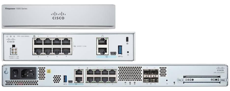Cisco FPR1010-ASA-K9 hardware firewall 1U 2000 Mbit/s