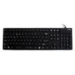 Accuratus KYBNA-SIL-105CBK keyboard USB + PS/2 QWERTY English Black