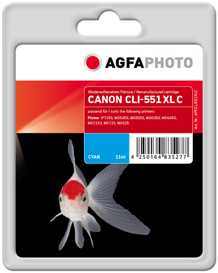 AgfaPhoto APCCLI551XLC Cyan ink cartridge