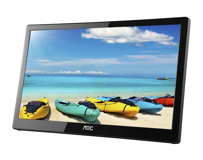 """AOC I1659FWUX 15.6"""" 1920 x 1080pixels Multi-touch Black touch screen monitor"""