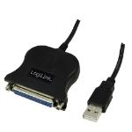 LogiLink UA0054A parallel cable 1.8 m Black