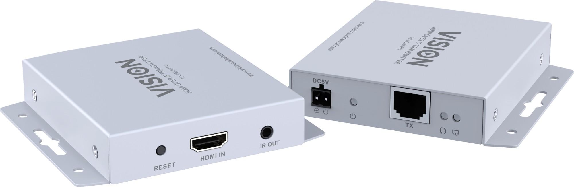 Vision TC-HDMIIPTX convertidor de señal Plata