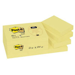 Post-It RECYCLED NOTES 38X51MM YELLOW P12