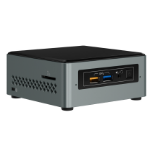 Intel NUC NUC6CAYSAJ 1.50GHz J3455 Zwart, Grijs Mini PC
