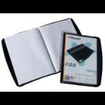 Rexel Optima Display Book 20 Pockets Black