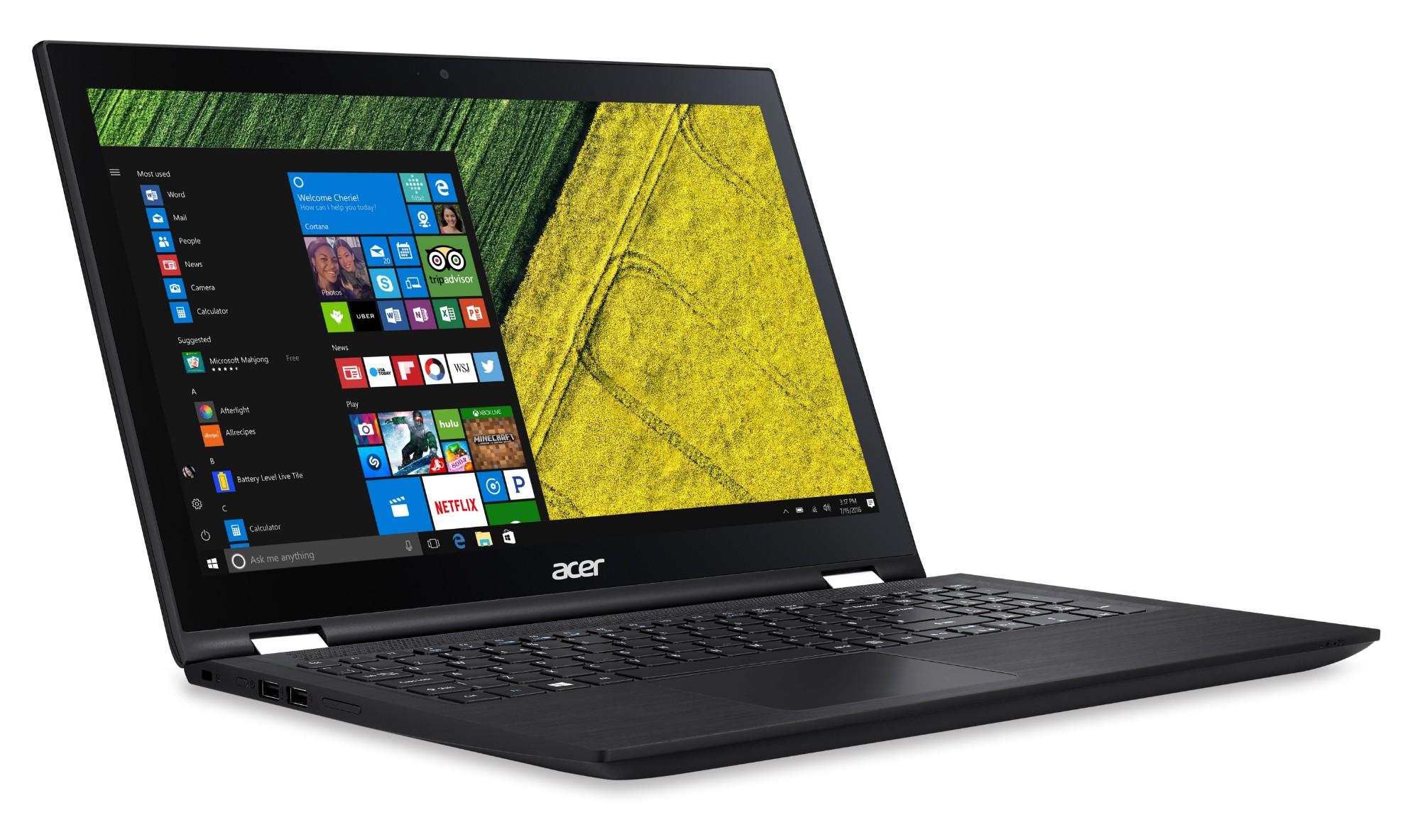 "Laptop Acer SP315-51 intel Ci7, RAM 12GB, Disco Duro 1TB, Pantalla TOUCH 15.6"", Windows 10"