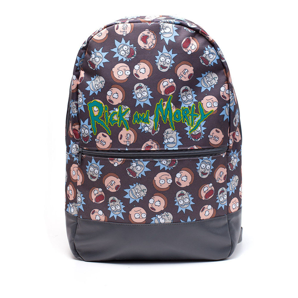 RICK AND MORTY Logo and Big Faces Backpack, Multi-colour (BP081211RMT)
