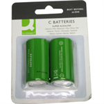 Q-CONNECT 2 x C Single-use battery Alkaline