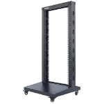 "Intellinet 19"" 2-Post Open Frame Rack, 26U, Max 300kg, Flatpack, Black"
