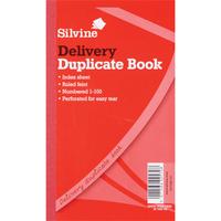 Silvine DUP BOOK 8.25X5 DELIVERY 613-T