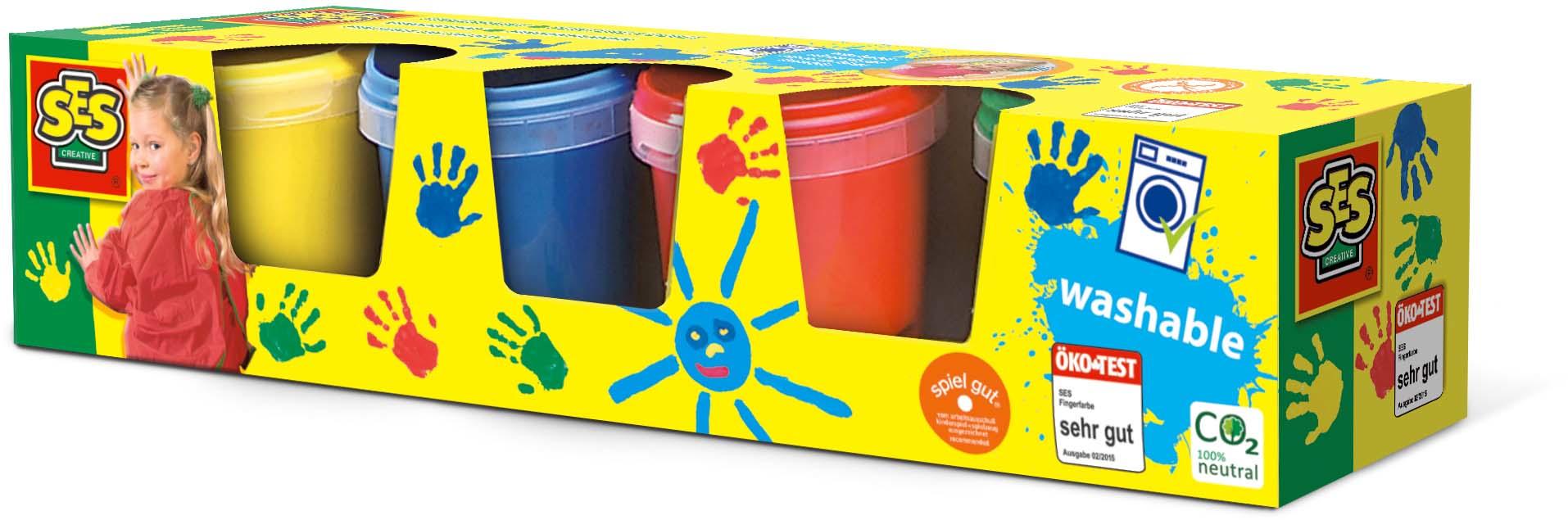 SES Creative Fingerpaint 4 colours x145ml