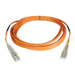 "Tripp Lite N320-46M fiber optic cable 1811"" (46 m) OFNR 2x LC Orange,Grey"