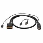 "C2G C2G41473 video cable adapter 118.1"" (3 m) VGA (D-Sub) HDMI Black"