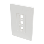 Tripp Lite 3-Port Single-Gang Universal Keystone Wallplate, White