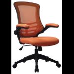 Eliza Tinsley Luna Medium Back Mesh Chair Orange DD