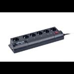 Gembird EG-PM2-LAN 6AC outlet(s) 1.8m Black power extension