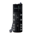 """CyberPower HT1006U surge protector 10 AC outlet(s) 125 V 70.9"""" (1.8 m) Black"""