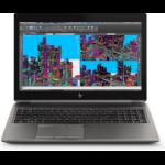 "HP ZBook 15 G5 Mobile workstation 15.6"" 3840 x 2160 pixels 8th gen Intel® Core™ i7 16 GB DDR4-SDRAM 256 GB SSD NVIDIA Quadro T2000 Wi-Fi 5 (802.11ac) Black, Silver"